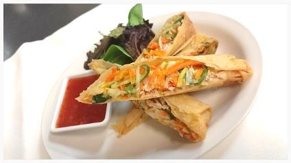 Hand Rolled Chicken Spring Rolls